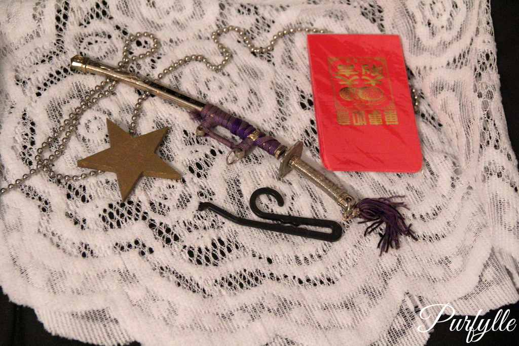 junk including samurai letter opener