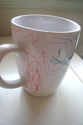 Sharpie Decorated Mugs DIY