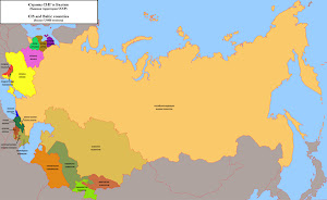 CIS and Baltic countries map