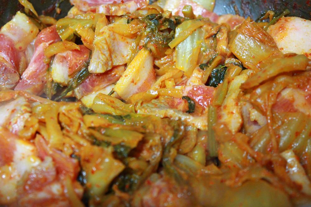 Tofu and kimchi with pork belly (dubu kimchi) | All That Korea
