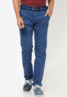 Blue Casual Trousers