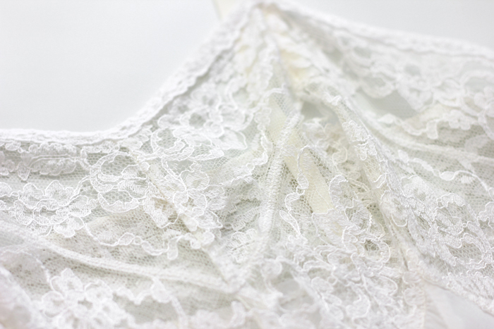 vintage lace close up