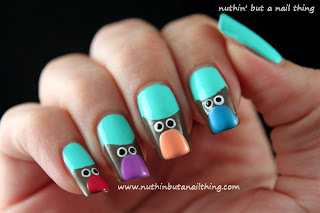 Owl Nail Art Tutorial China Glaze Sunsations Neon On The Shore