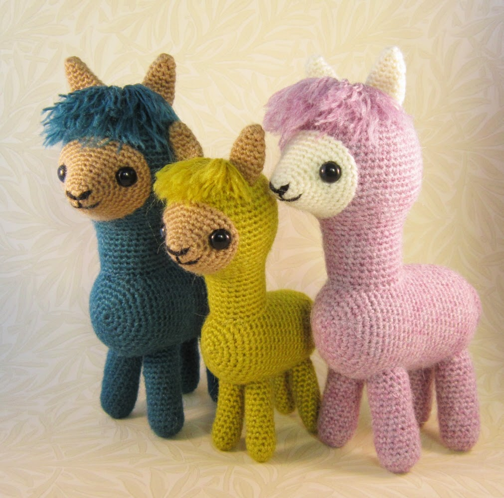 Alpaca Knitting Patterns Free : LucyRavenscar - Crochet Creatures: Alpaca Family Pattern