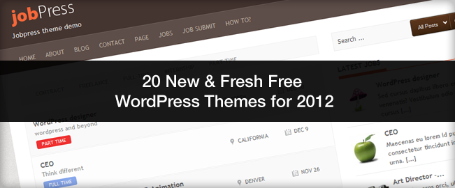 wordpress 2012 free themes 2012 En Güzel Bedava WordPress Temaları indir