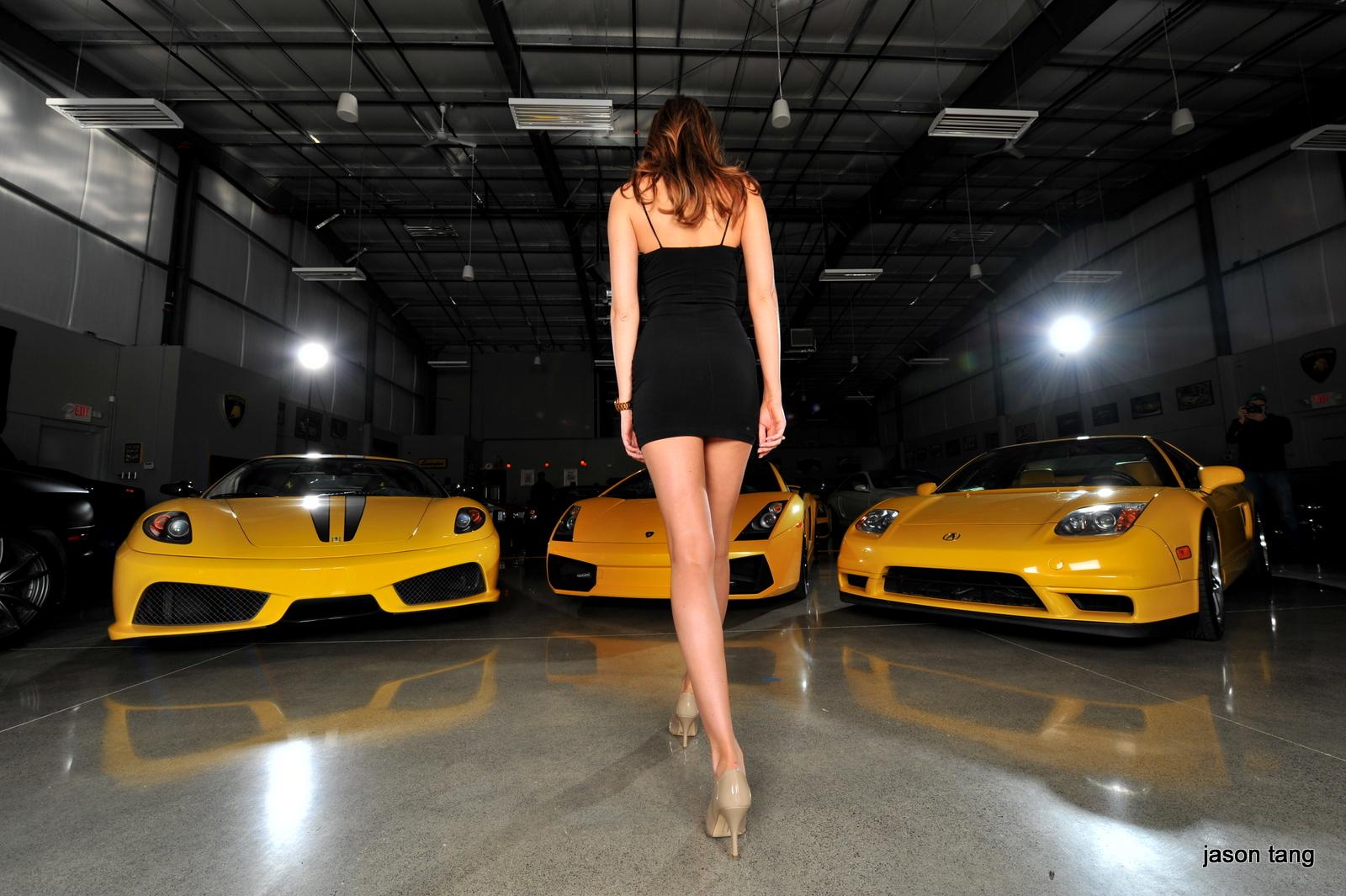 Фото дорогих машин и девушек
