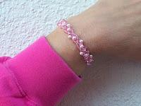 Pinky wire crochet bracelet
