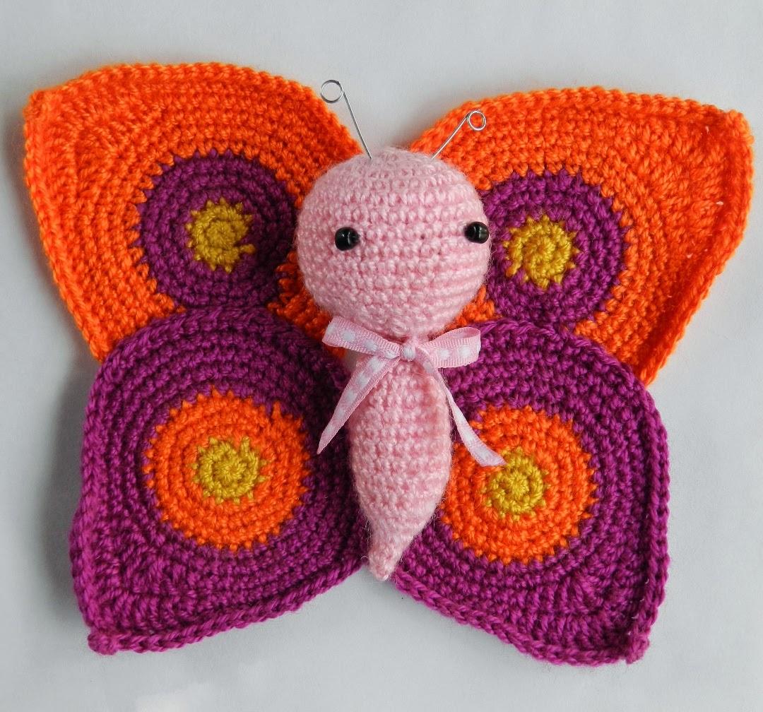 Mariposa amigurumi