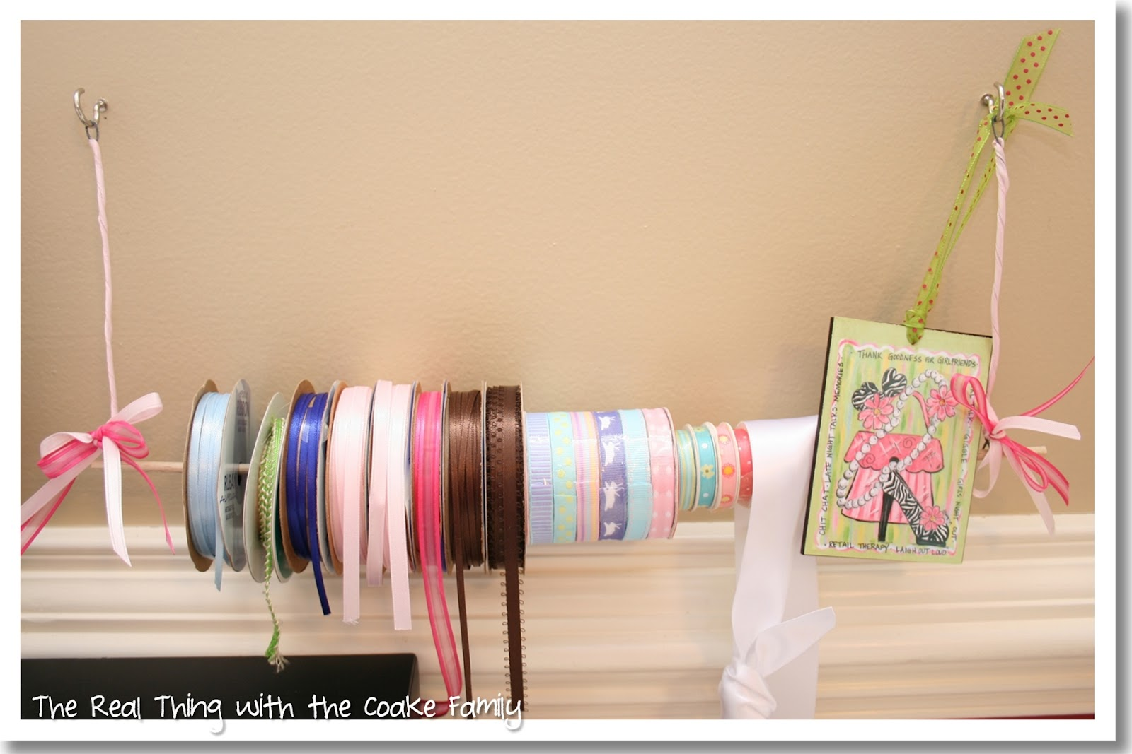 Wire And Dowel Rod Ribbon Holder (DIY U0026 Tutorial)