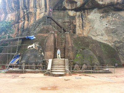 Sigiriya, Sri Lanka Lion Gate, way up through jaws, ancient world cultural heritage, point of interest