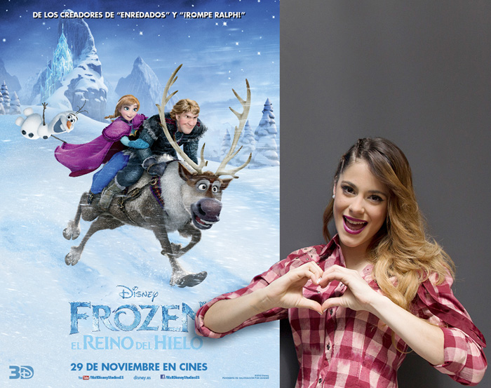 Martina Stoessel (Violetta) interpreta Let it Go para Frozen. El reino de hielo