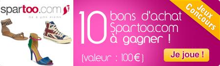 10 bons d'achat de 100 euros Spartoo
