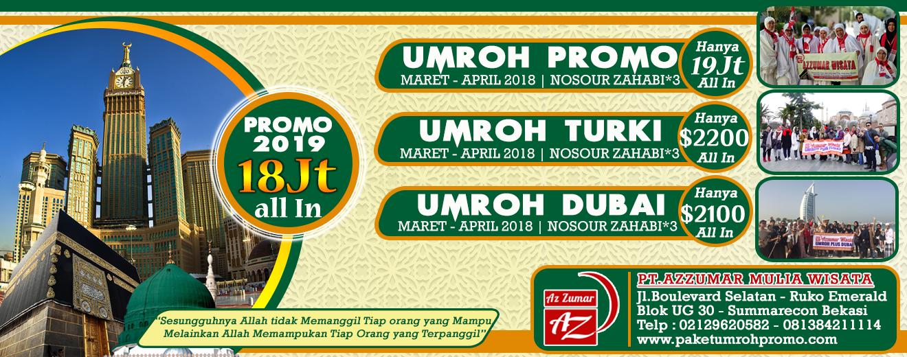 Paket Umroh Promo Harga Murah 2018 - Azzumar Wisata