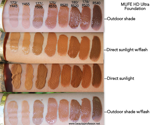 make up for ever ultra hd foundation swatches
