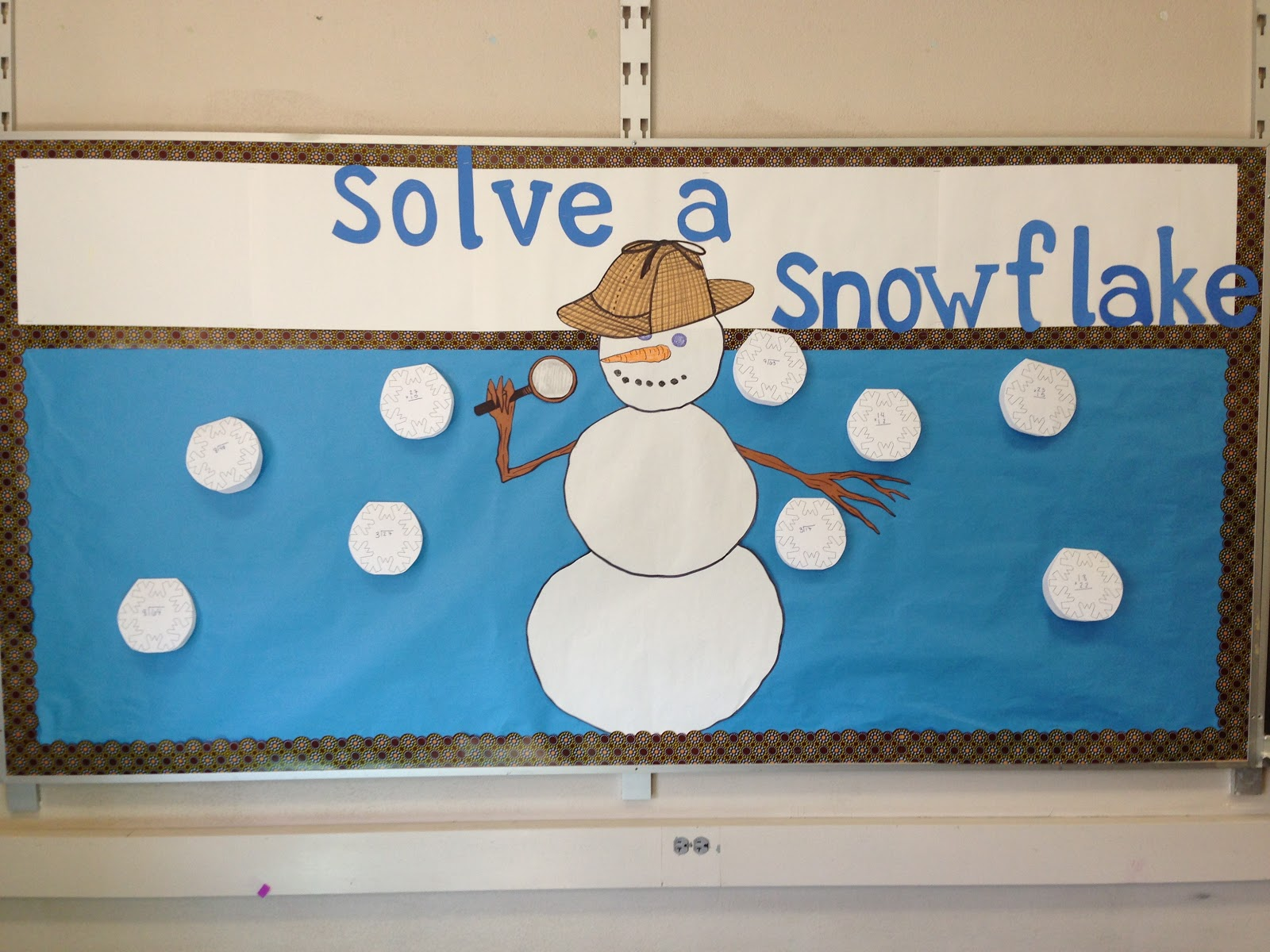 nice Winter Bulletin Board Ideas For Teachers Part - 10: There were a few more snowflakes, but I forgot to take pictures until it  was time for Mr. Snowman to come down.