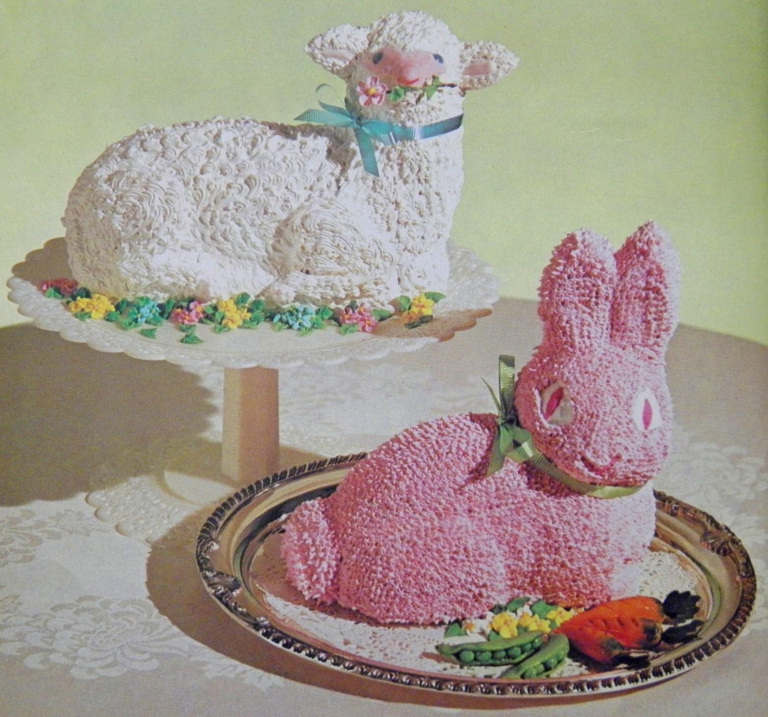 Easter Lamb Cake & Easter Bunny Cake