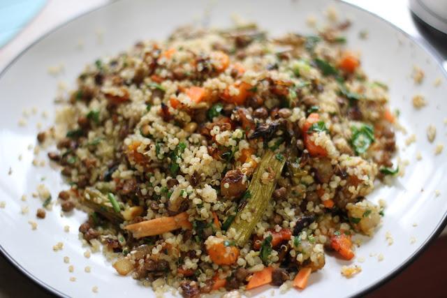 ... Vegan: Recipe: Roasted Root Vegetables, Lentils & Quinoa Warm Salad
