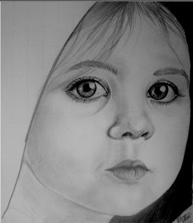 draw young girl's face - step 5