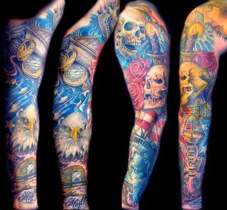 Color Sleeve Tattoo Ideas Tatto Style