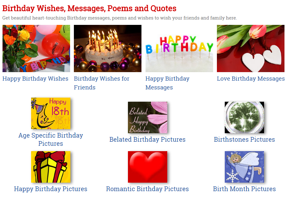 Happy Birthday Card Text Messages Happy Birthday Wishes Card