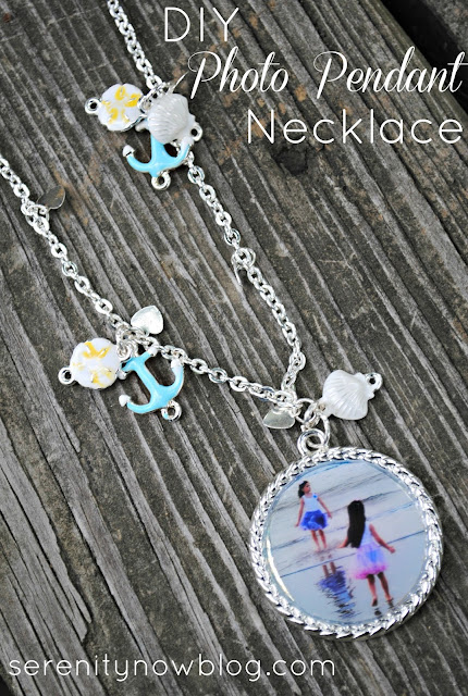 DIY Photo Pendant Necklace with Martha Stewart Jewelry, from Serenity Now