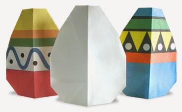 Hướng dẫn cách gấp quả Trứng bằng giấy đơn giản - Xếp hình Origami với Video clip - How to make a Egg