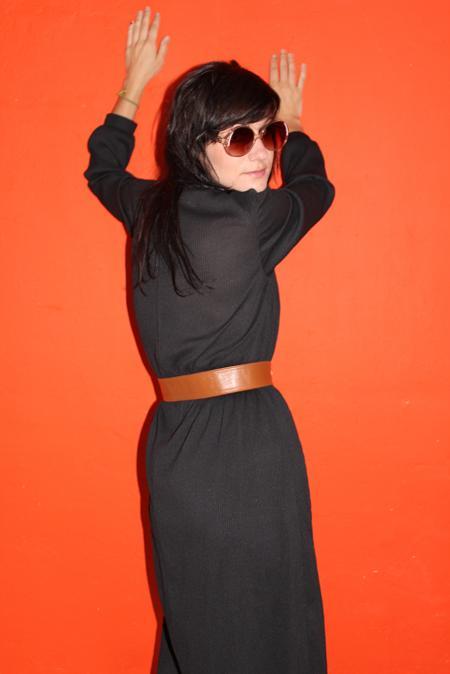 vintage dress 70s new york style hippie velvet underground