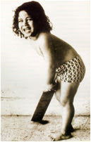 sachin play with bat at babyhood