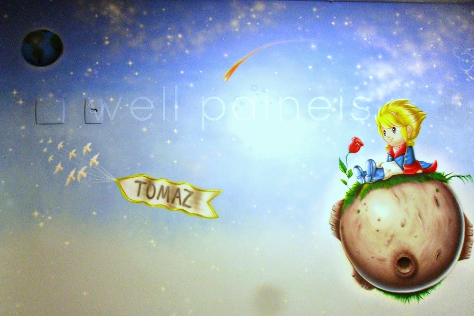 Quarto Infantil O Pequeno Principe ~   a?rografia o pequeno principe aerografia em quarto infantil