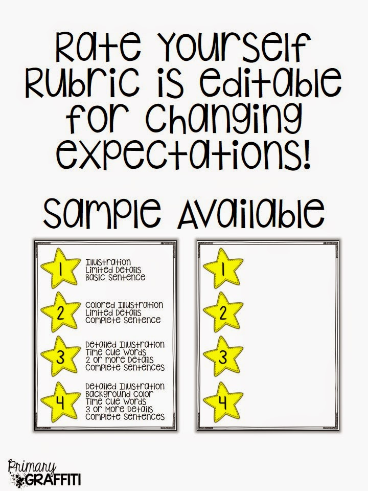 Primary Graffiti Rate Your Writing Year Round Visual Rubric Primary ...