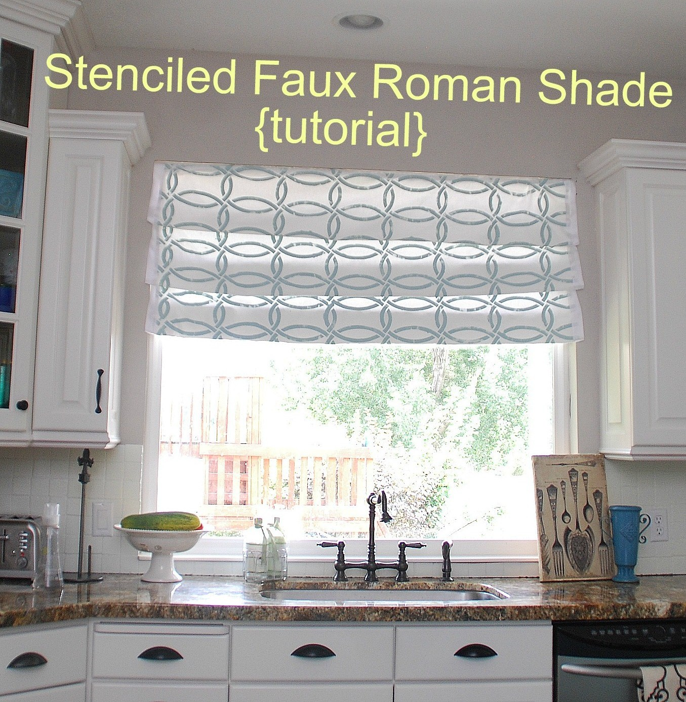 Kitchen Shades Roman Curtain