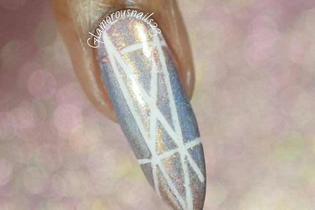 Geometric Gradient Nail Design