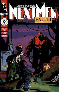 """NextMen #21 """"Faith"""" pt 3 [de 4] por John Byrne (con Mike Mignola)"""