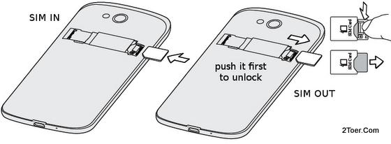 Insert Remove mini SIM Card HTC One VX ATT