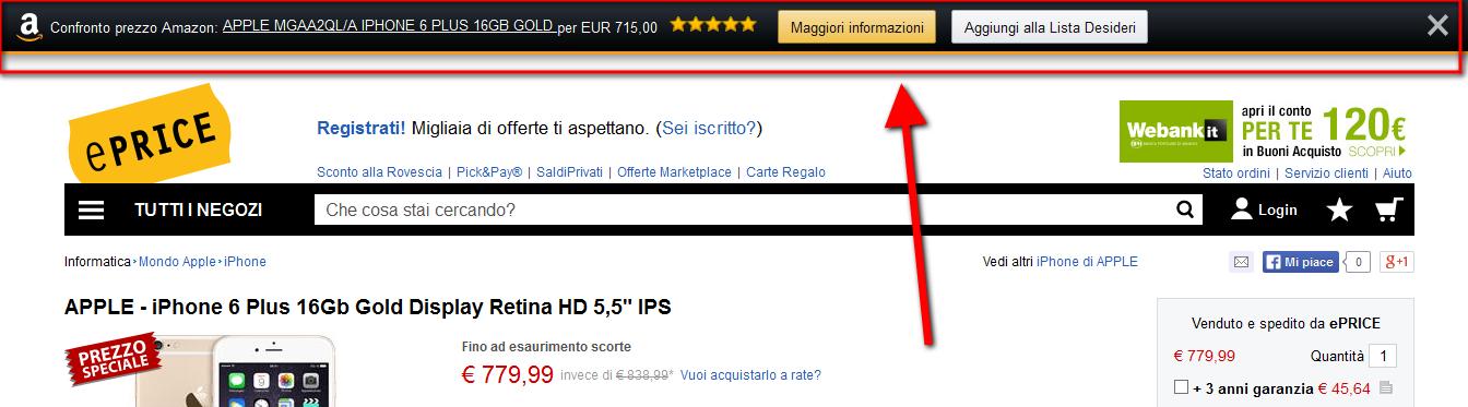 Amazon 1button: comparazione prezzi con altri siti