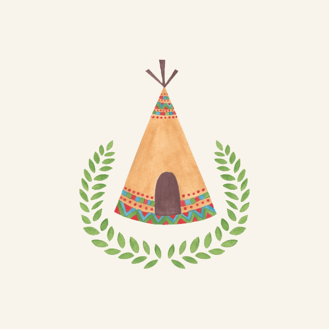 Tipi Watercolor Illustration by Haidi Shabrina