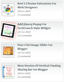 recent post thumbnail css widget