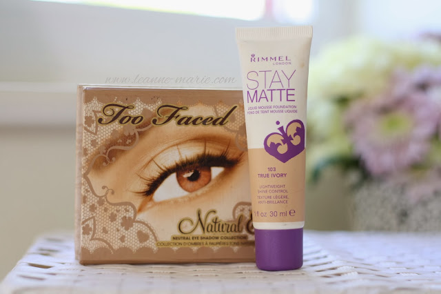 too-faced-natural-palette-rimmel-stay-matte-foundation-blog-post-beauty-blogger