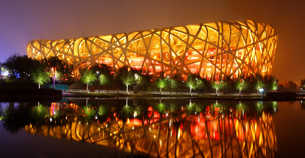 Just a nice word birds nest stadium beijing china for Nest bird stadium