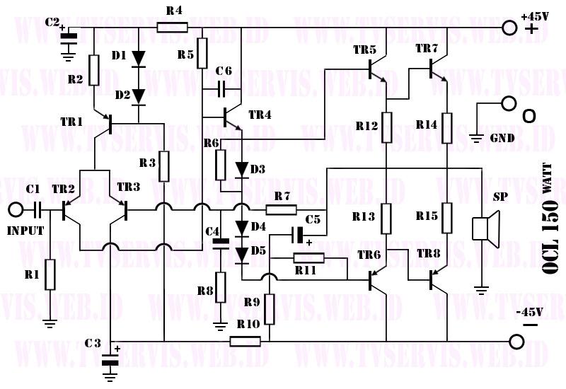 elektronik  power amplifier ocl 150watt