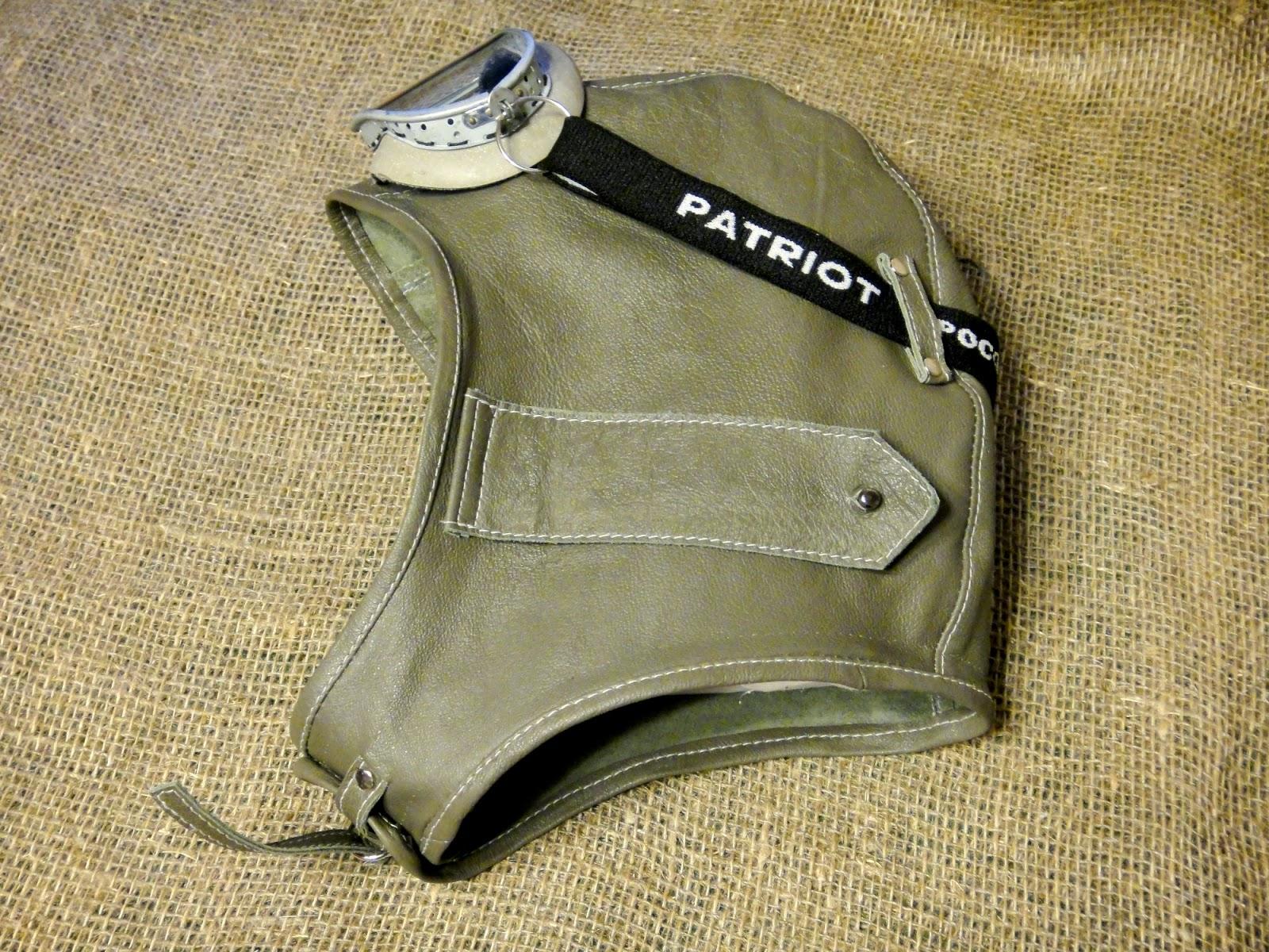 Шапка шлем летчика, серый кожаный шлем из кожи