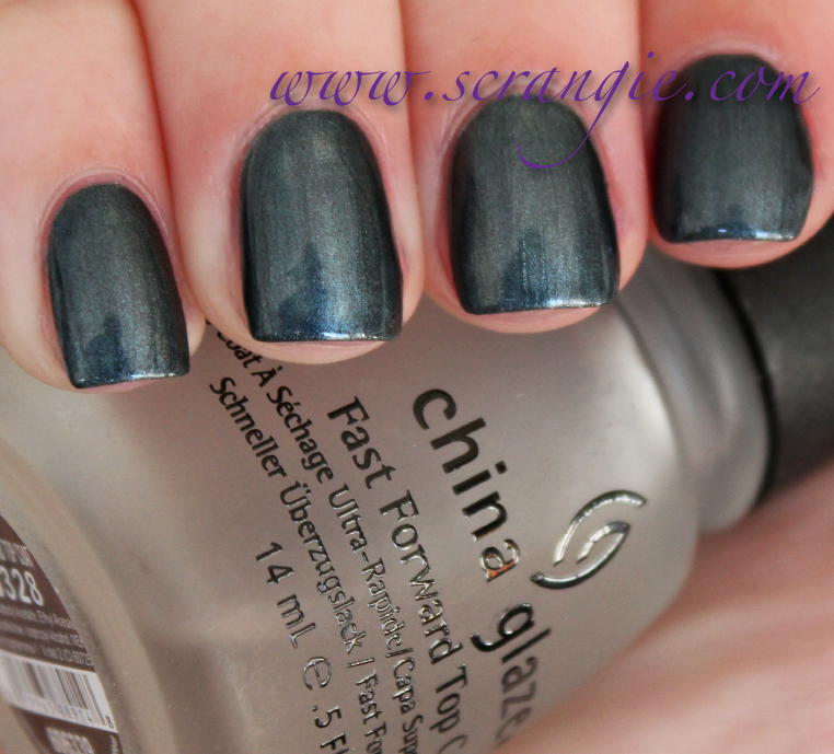 China Glaze Tranzitions In Metallic Metamorphosis With Topcoat It Darkens Significantly And Takes On A Blue Green Tint