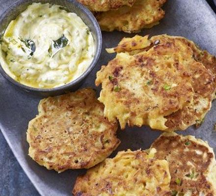 MrsD-Daily: Parsnip Pancakes with Honey & Mustard Dressing