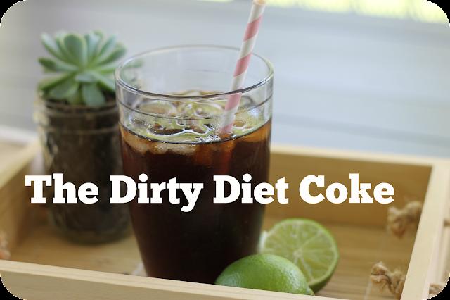 dirty diet coke, coke, drink