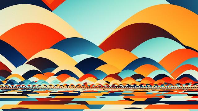Retro Fractal Art HD Wallpaper