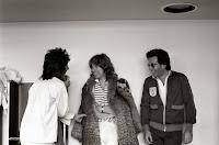 Ronnie Wood, Mick Jagger, Bob Silberstein