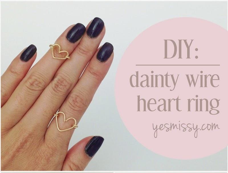 Diy une bague joli coeur en fil m tallique initiales - Comment faire une bague ...
