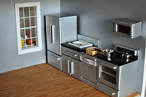 Modern Dollhouse Kitchen Furniture Design