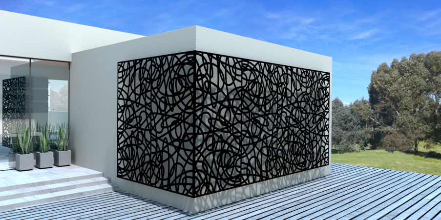 Architectural decorative perforated metal panels