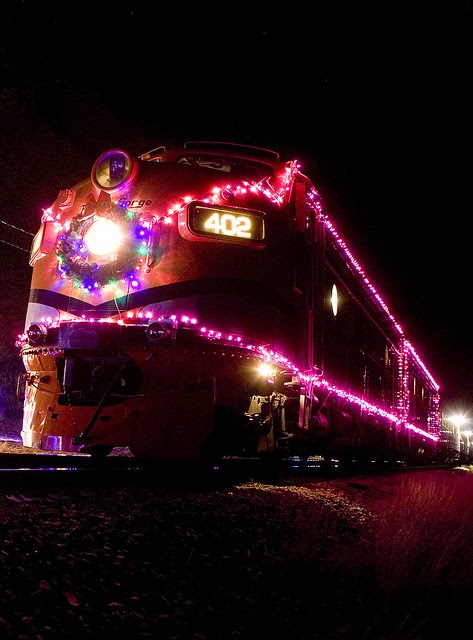 Santa Express Dressed Up In